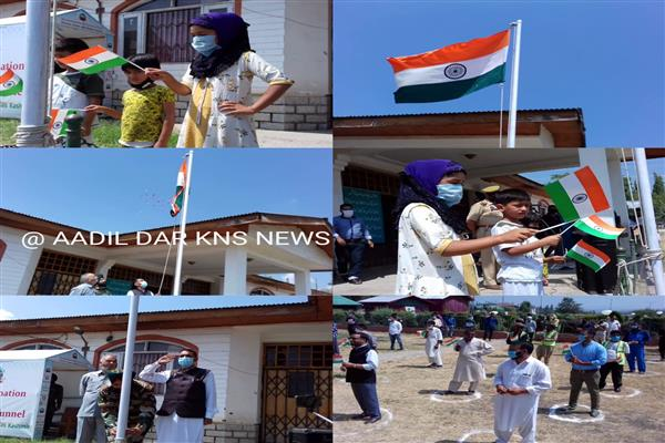 74th Independence celebrated in Gulmarg