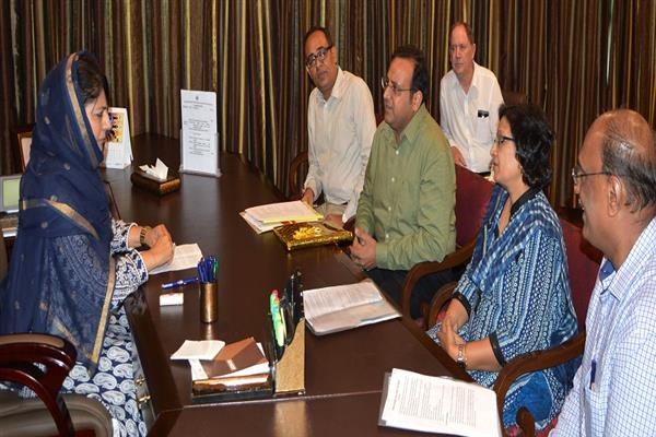 Chairperson, Inland Waterways Authority of India calls on CM