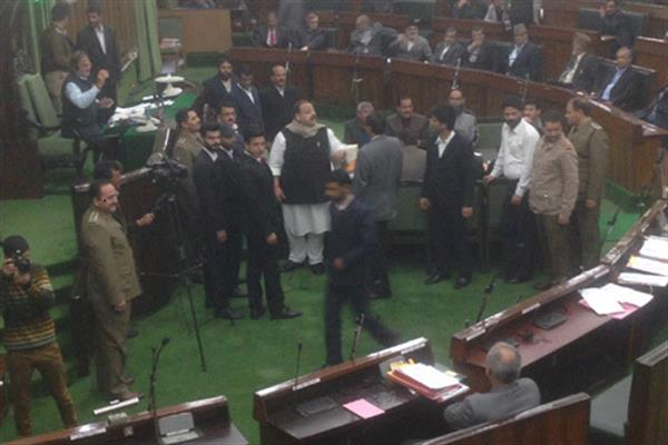 Amid uproar over border firing, LA adjourned for 10 minutes