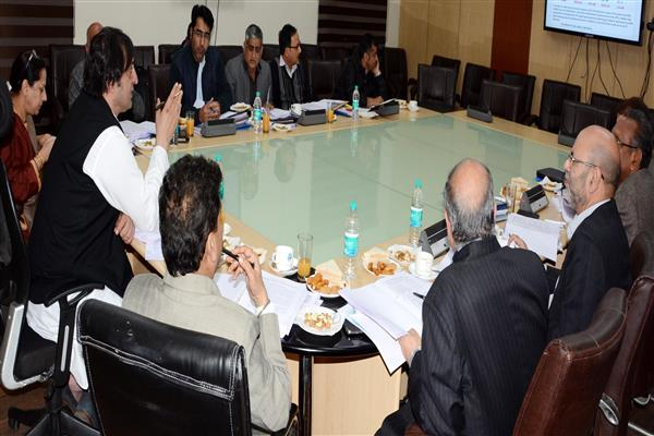 Sajad Lone chairs BoDs meeting of SC ST & BC Dev Corp