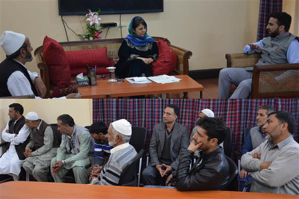 Deputations from Noorabad, Leh, Udhampur, Shopian, Sonwari meet CM