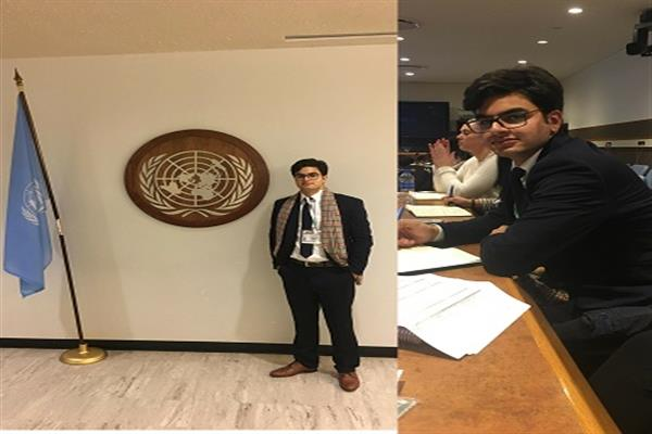 Kashmiri youth participates in UN Youth assembly