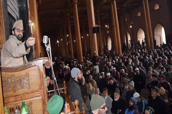 "NC, PDP, PC part of Delhi's ""trajectory colonial setup"", not a democratic process: Mirwaiz"