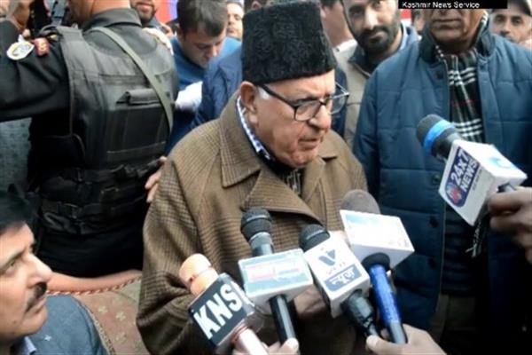 Farooq Abdullah blames late A G Lone for armed struggle in Kashmir