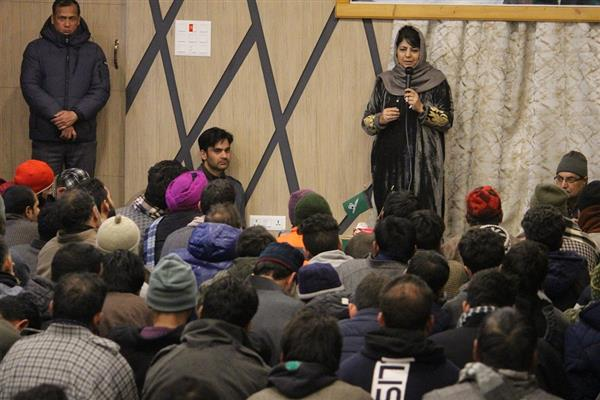 Political astuteness not economic packages needed to resolve Kashmir: Mehbooba
