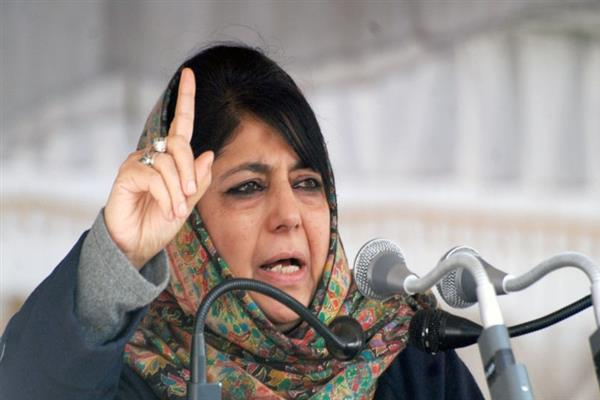 Once you revoke Article 370, India will be an occupational force in J&K: Mehbooba to Amit Shah