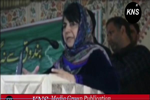 This election is aimed to protect special status: Mehbooba tells workers in Shopian