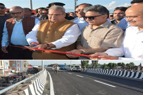 Governor inaugurates Jehangir Chowk-Alochi Bagh portion of Jehangir Chowk- Rambagh flyover