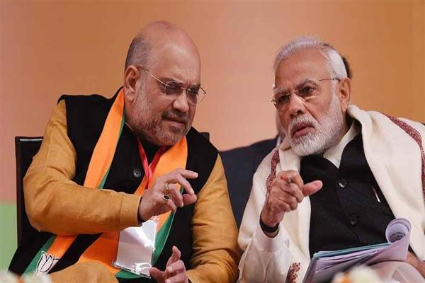 Home Minister Shah briefs PM Modi on Kashmir