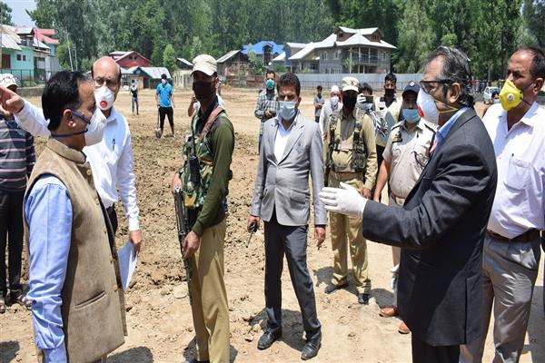 Advisor Baseer Khan visits Baramulla, inspects several dev projects