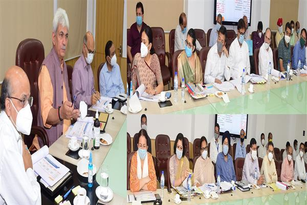 Lt Governor reviews Mega Projects of Jammu Division