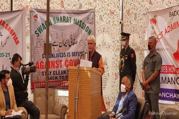 Shun militancy, extremism; will provide jobs: LG Manoj Sinha to local militants
