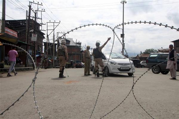 Restrictions in Srinagar areas on Mon