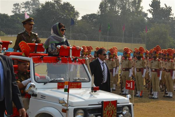 CM addresses Attestation cum Passing Out Parade at PTS, Kathua