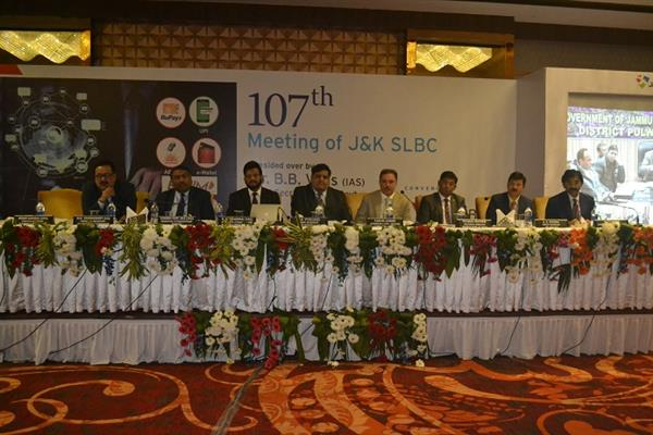 JK Bank Convenes 107th SLBC