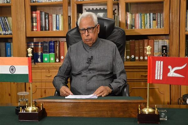 Governor greets people on Independence Day
