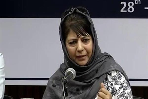 JK in dire need of political solution: Mehbooba