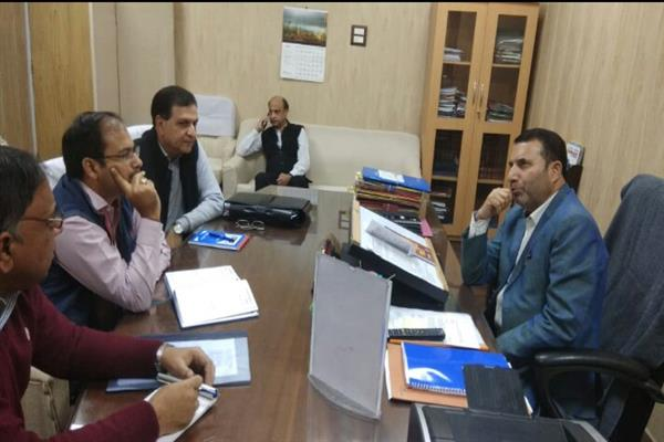 Farooq Shah reviews implementation NRDWP, Ujh Project