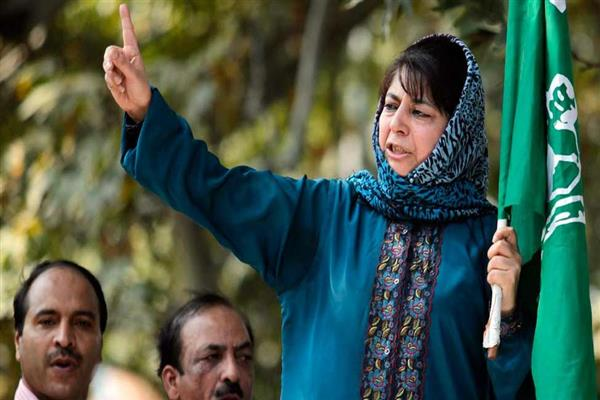 Mehbooba warns of 2008 like uprising if orders on PRC rules, JK Bank are not immediately withdrawn