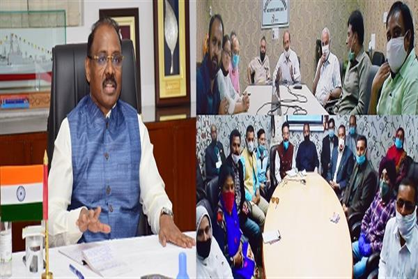 Lt Governor interacts with representatives of PRIs, ST/SC/OBC delegation