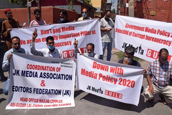 Journalists protest against new media policy, demands its immediate rollback
