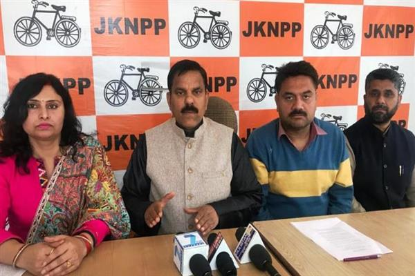 BJP made law 'hostage' across country: JKNPP