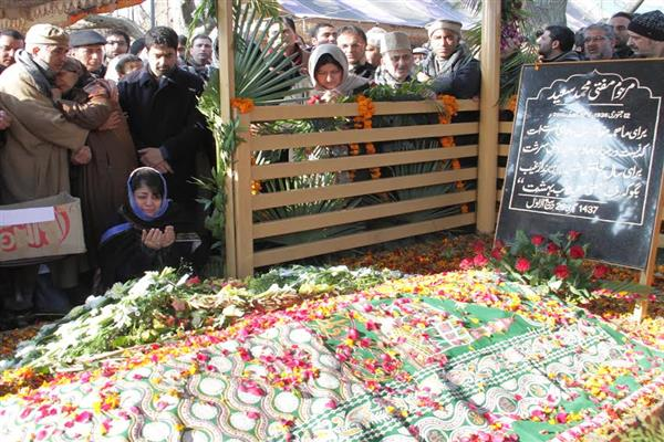 Image result for Mehbooba Mufti, Mufti's grave