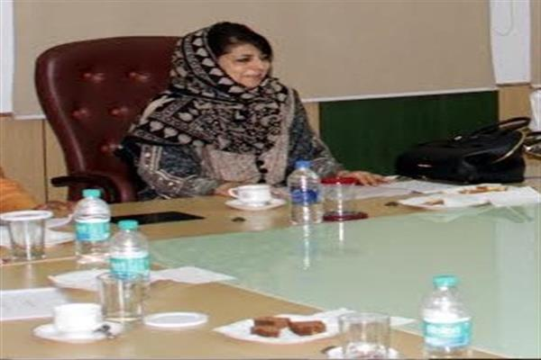 Srinagar, Oct 03 (KNS): The Cabinet Chaired By Chief Minister, Mehbooba  Mufti Today Accorded Sanction To The Creation Of 167 Posts In Various  Categories In ...