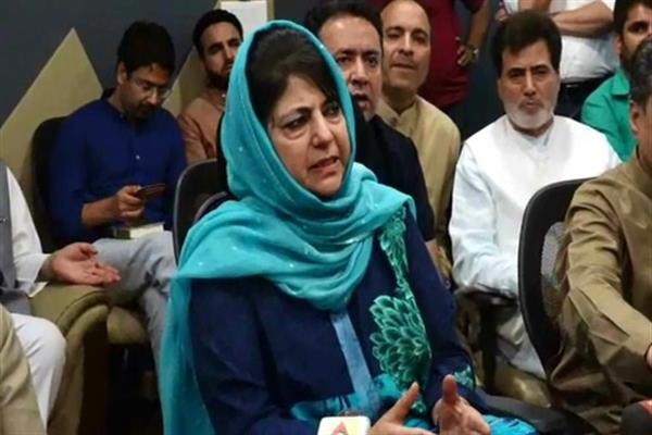 Kashmir can't be treated as 'enemy territory': Mehbooba