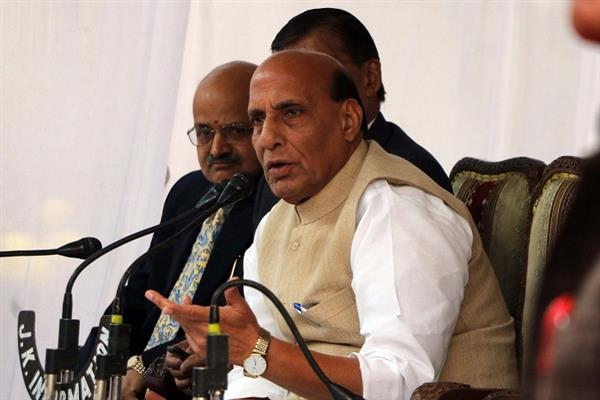 Talks not a one way root to peace: Rajnath Singh