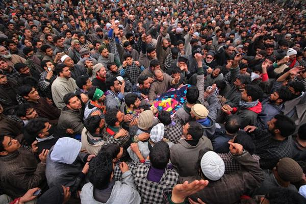 Pulwama militant laid to rest at Zadoora