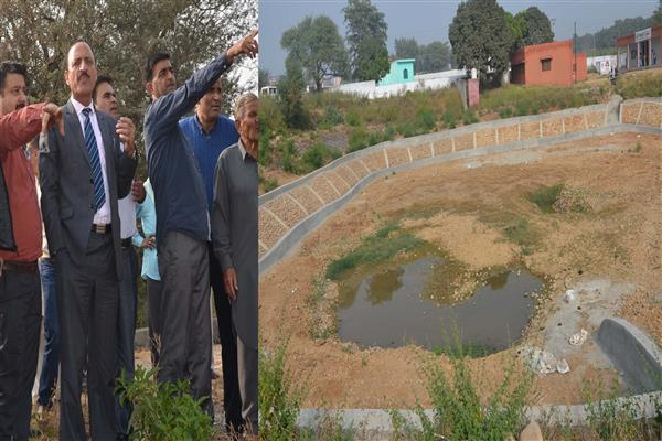 Abdul Haq inspects IWMP works in Samba District