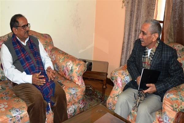 Dineshwar Sharma calls on DY CM