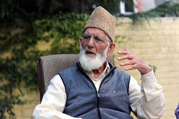 Geelani grieved over loss of lives during earthquake in Iran, Iraq