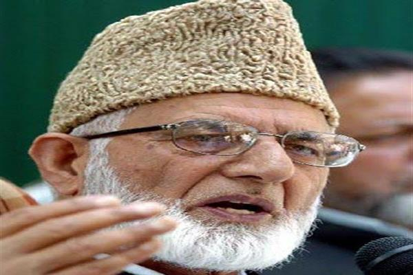 Geelani hails Pakistan for introducing resolution in UNGA