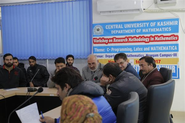Workshop on 'C-programming, Latex and Mathematics' begins at CUK