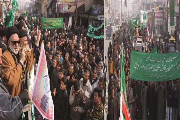 Aga Hasan leads Milad procession in Magam
