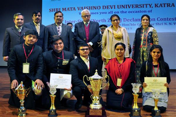 Jammu University lifts Silver Rolling Trophy in Declamation Contest