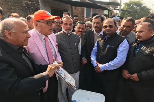 NC leaders visit shelling hit villages in Samba, R. S Pura