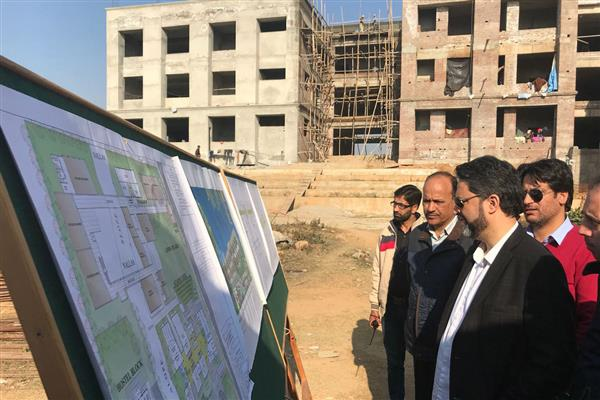 VC JKPCC inspects works in Kathua