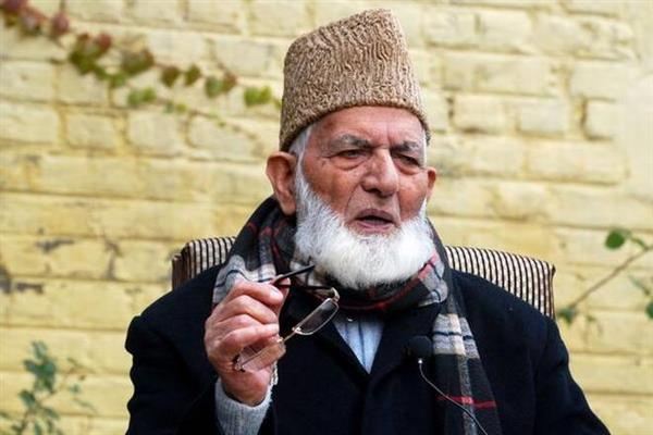 Geelani criticizes Union Home Minister for his statements on Kashmir issue, Pakistan