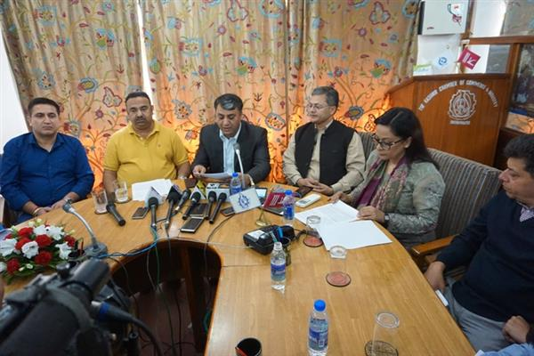 JCCI urges Govt, Oppn to rise above party politics, restore peace in JK