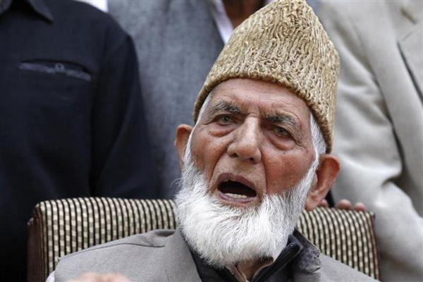 Geelani pays tributes to Saima Wani who succumbed to her injuries yesterday night