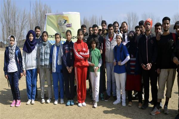Hundred meter race competition was organized in Showkat Ali Stadium Baramulla
