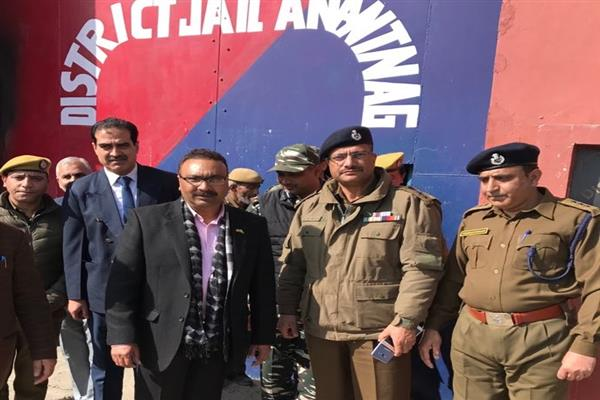 DGP Prisons visits, District Jail Anantnag, Special Jail Pulwama