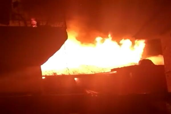 2 houses gutted in Sopore fire incident