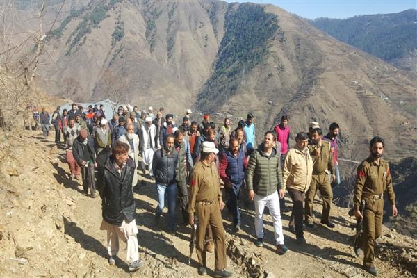 MLA Banihal visits various ongoing road projects