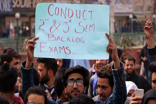 Undergraduate students protest, demand relaxation in syllabus for joint exams