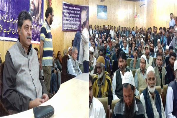 Seminar on anniversaries of Mirwaiz Farooq, Kh Gani Lone held at Kupwara