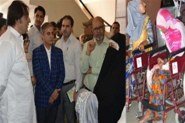 Sajad Lone inaugurates 3-day prosthetic aids camp